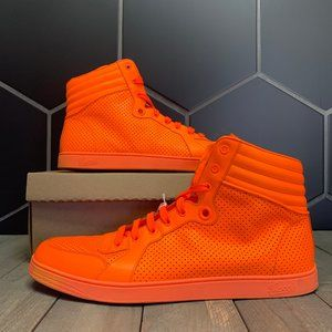 Used W/O Box! Mens Gucci Signature Neon Orange